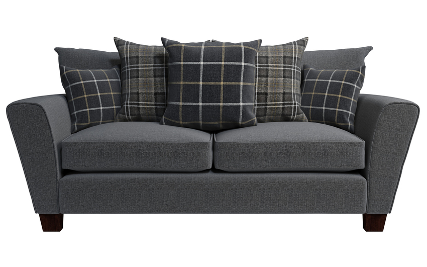 Harry 3 Seater Sofa Scatter Back, Valentino Collection Charcoal Option 1, large