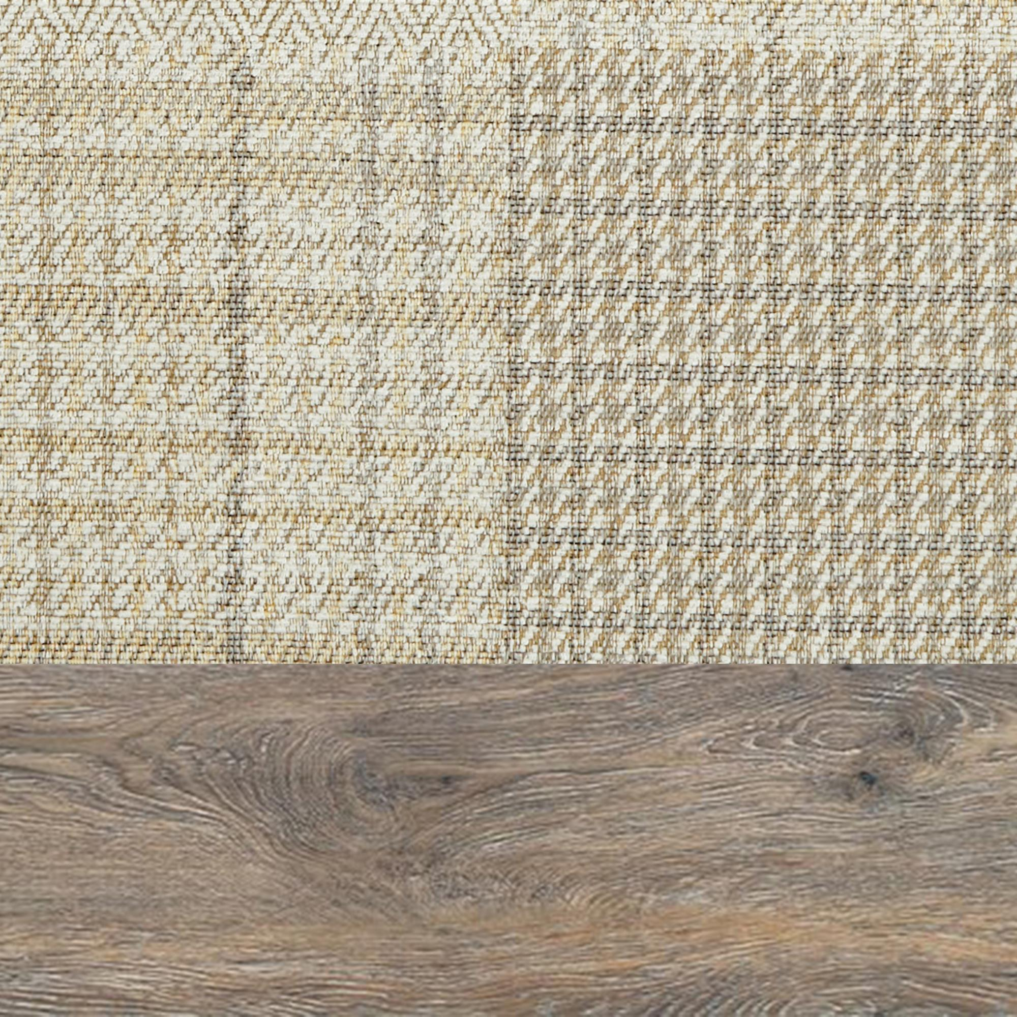 Patchwork Natural Scatter With Weathered Oak Feet
