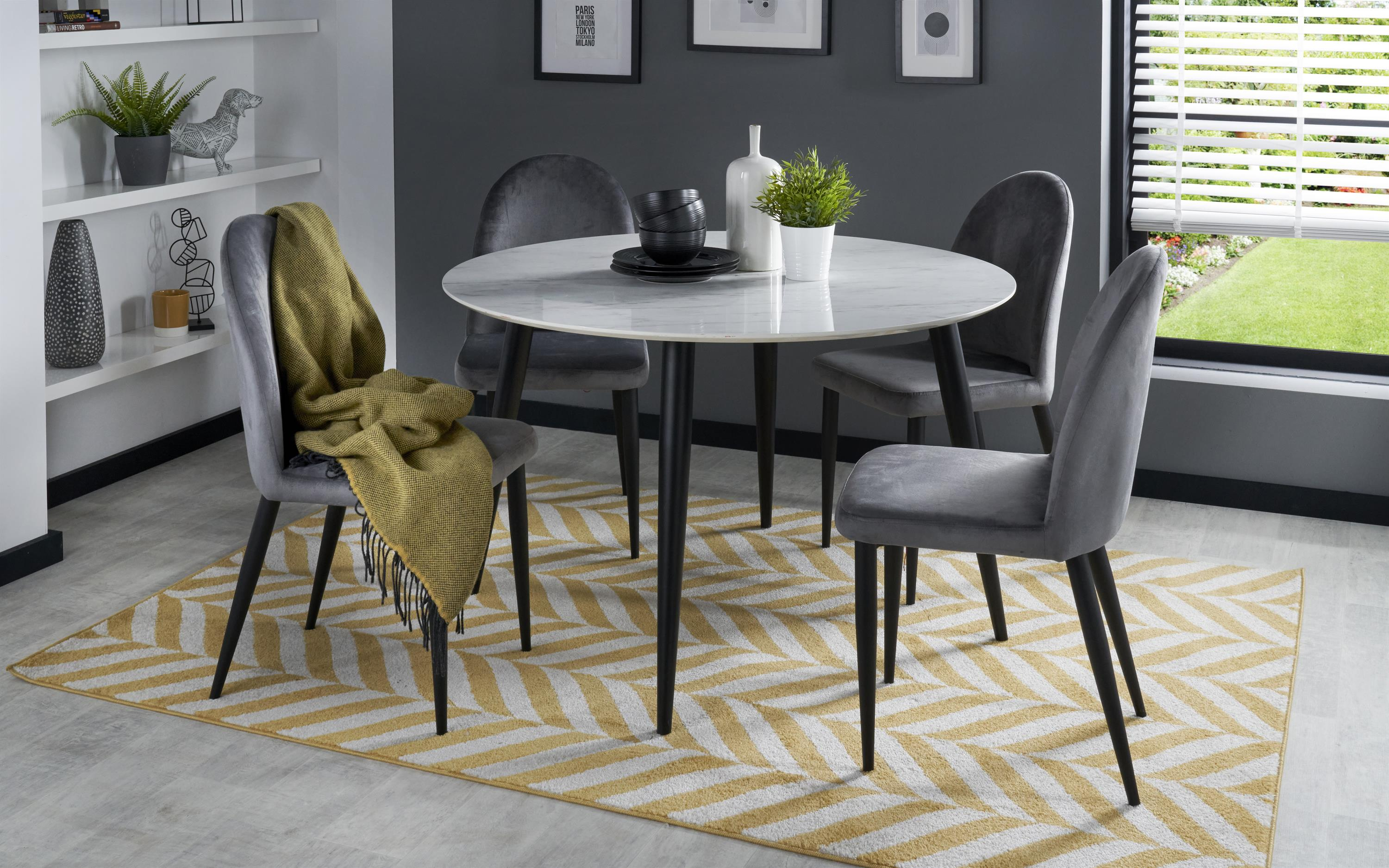 Milano Dining Table & 4 Chairs, , large