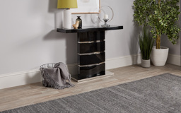 Rimini Black Console Table