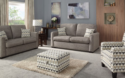 Inspire Jazz 3 Seater Sofa Bed Pocket Sprung, 6347 Zinc Caymen/7207 Charcoal/Ecru, small