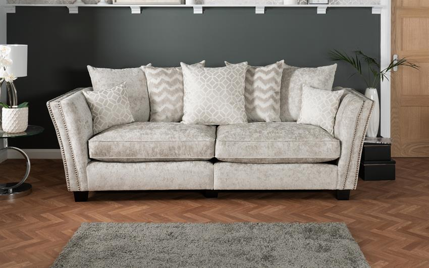 Miley 4 Seater Split Sofa Scatter Back