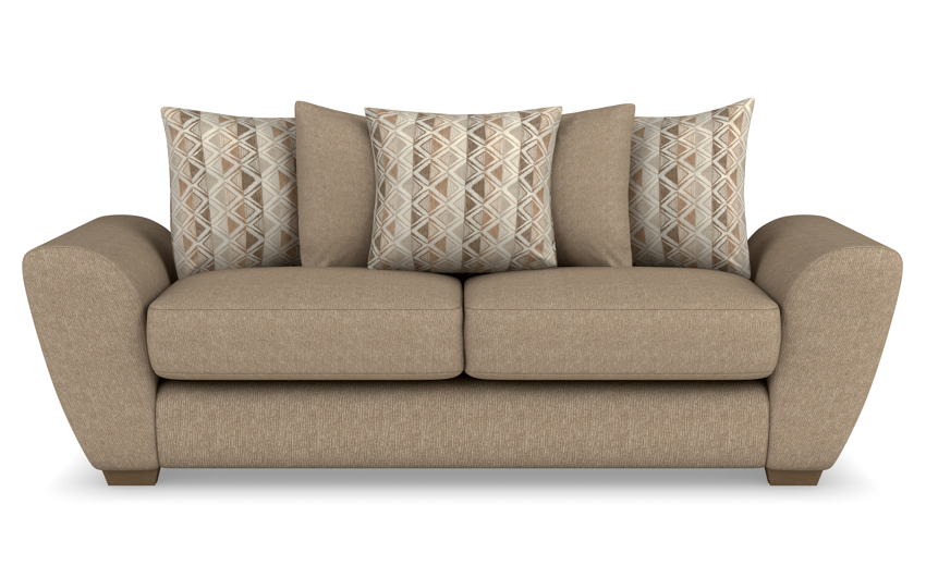 Lulu 3 Seater Sofa Scatter Back