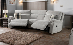 Cloud 4 Seater Curved Power Recliner Sofa, , small