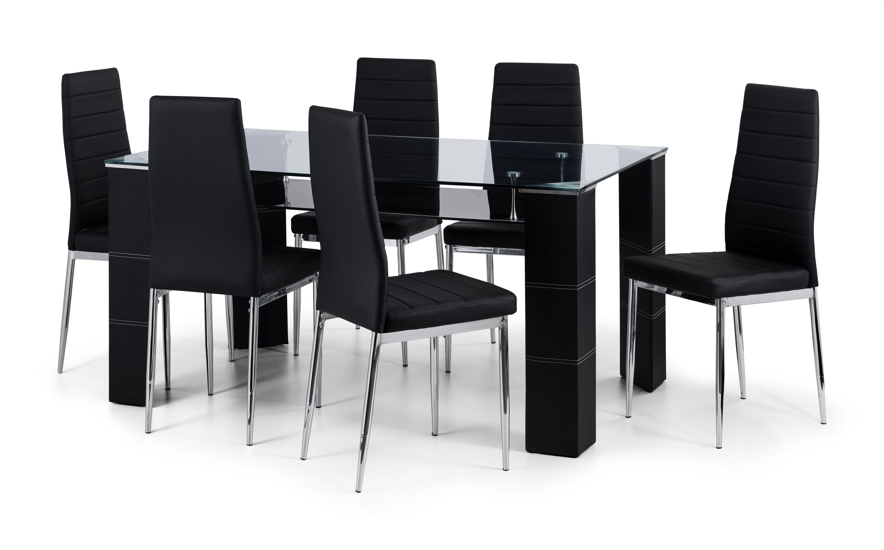 Bromley Glass Dining Table & 6 Chairs