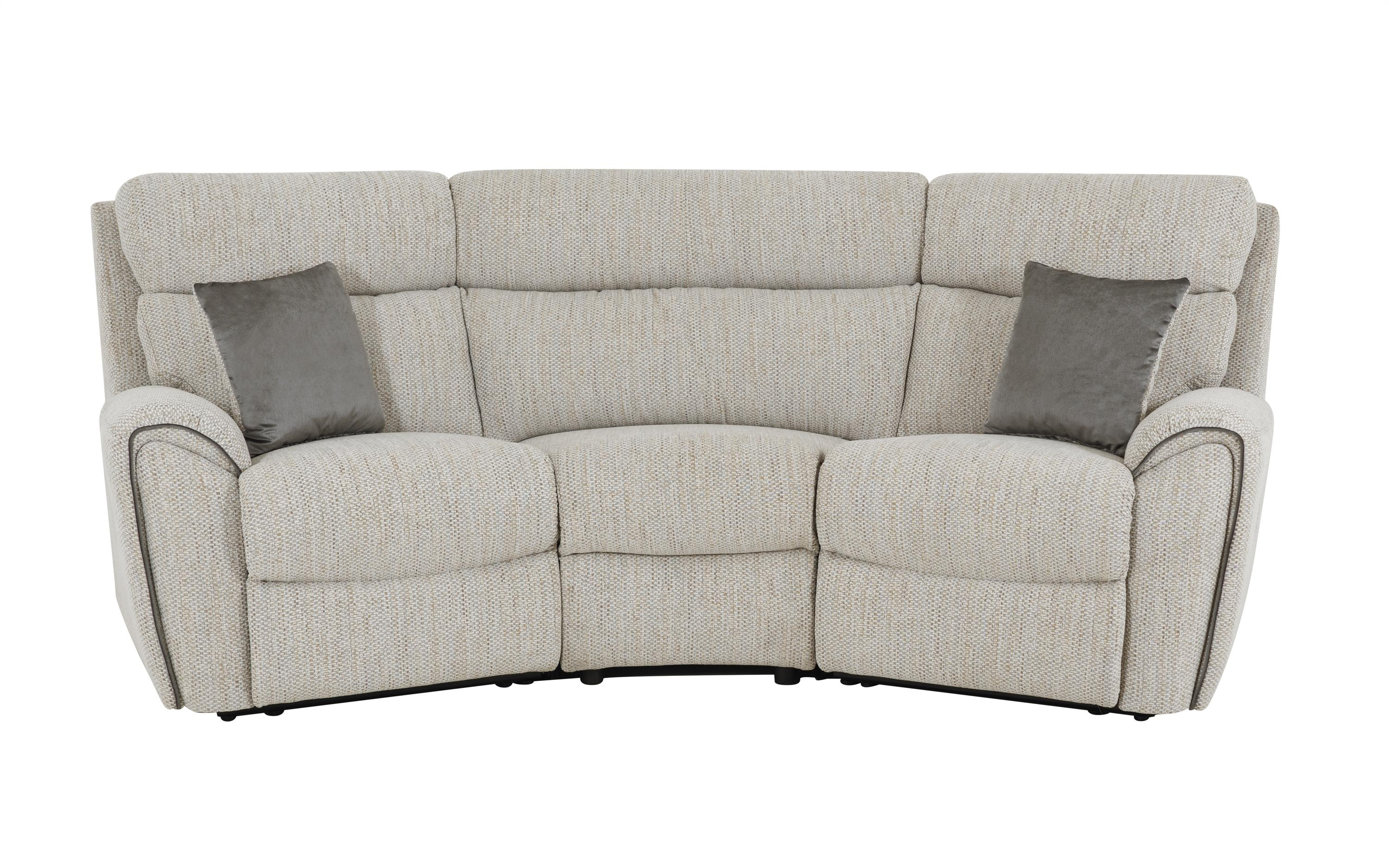 La-Z-Boy Pittsburgh 3 Seater Compact Curved Static Sofa, , large