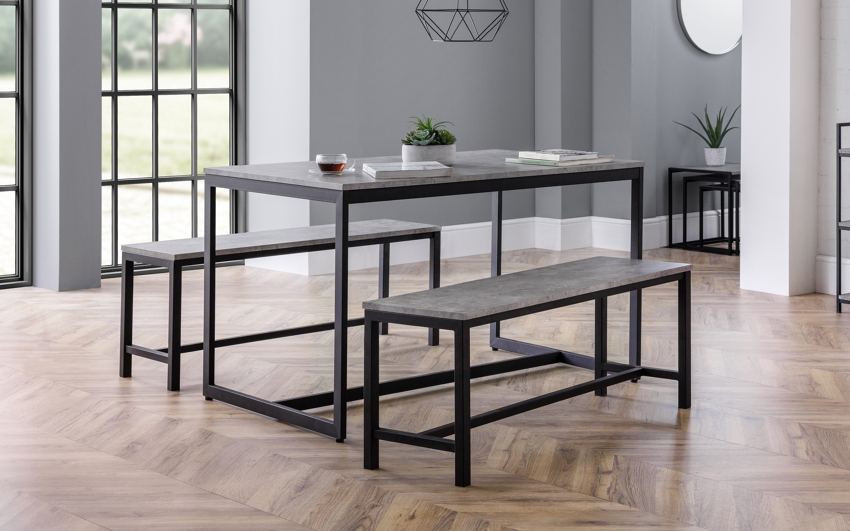 Knightsbridge Dining Table & 2 Benches