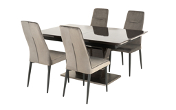 Sisi Italia San Pietro 1.6m Extending Dining Table & 4 Chairs, , small