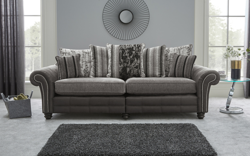 San Jose 4 Seater Split Sofa Scatter Back