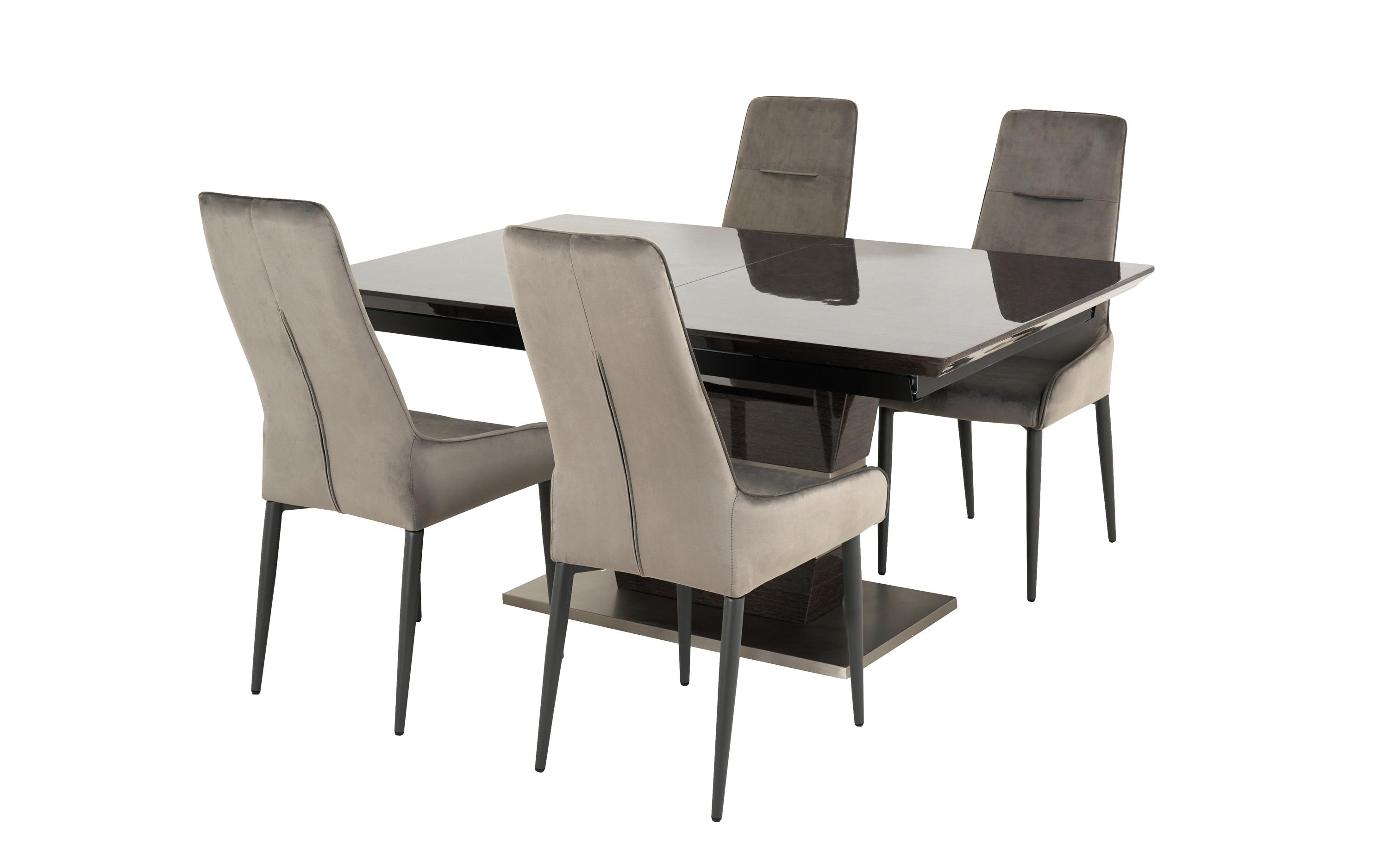 Sisi Italia San Pietro 1.6m Extending Dining Table & 4 Arm Chairs, , large