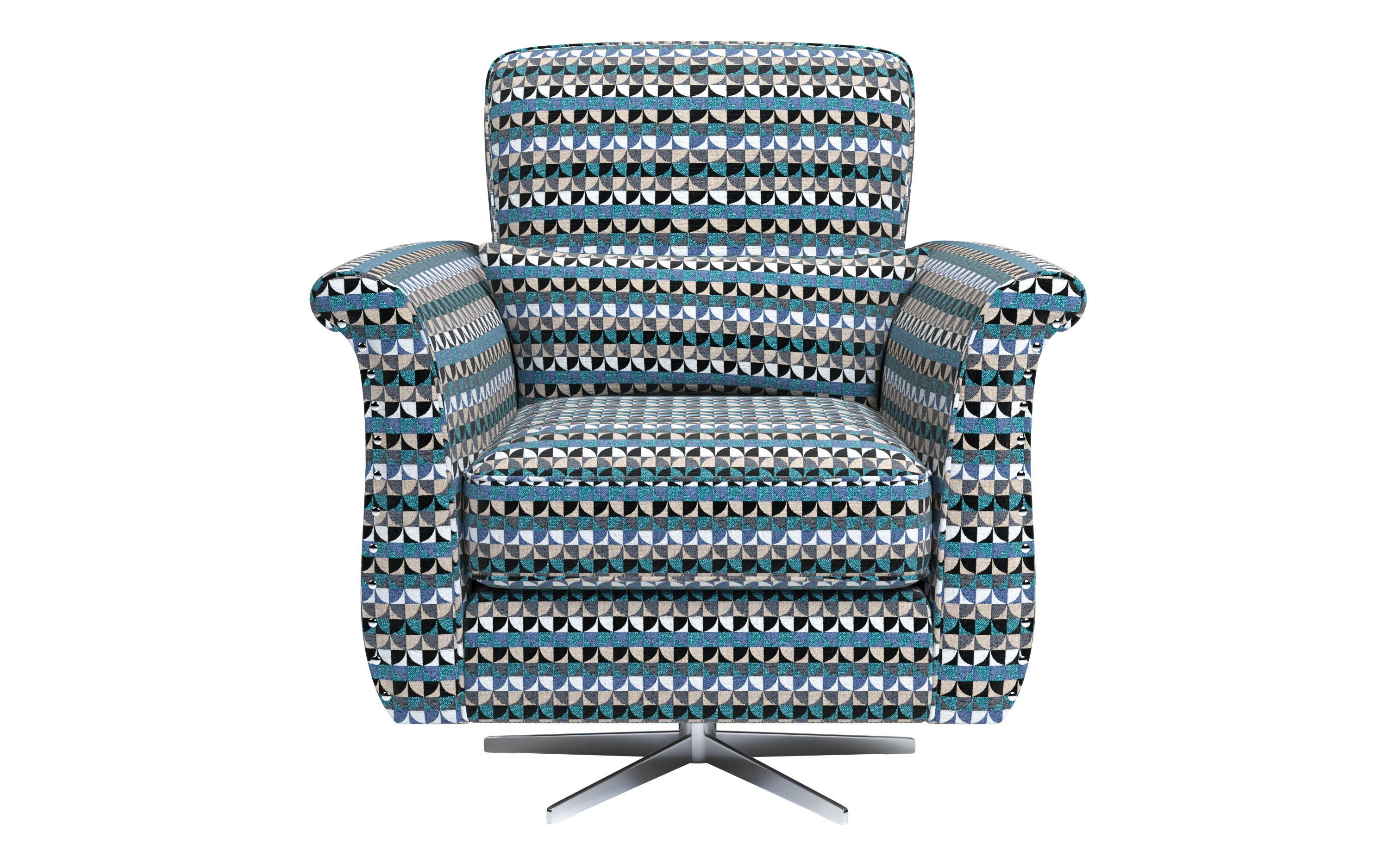 Spark Patterned Swivel Chair
