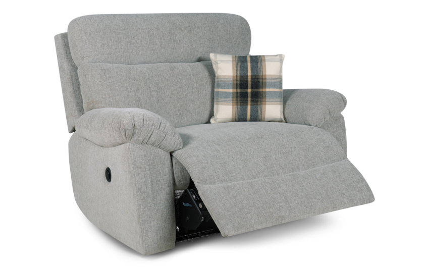 Cloud Love Seat Power Recliner, Cloud Collection Silver, large