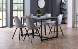 Knightsbridge Dining Table & 4 Grey Chairs