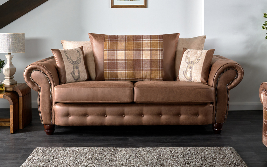 County 3 Seater Sofa Scatter Back