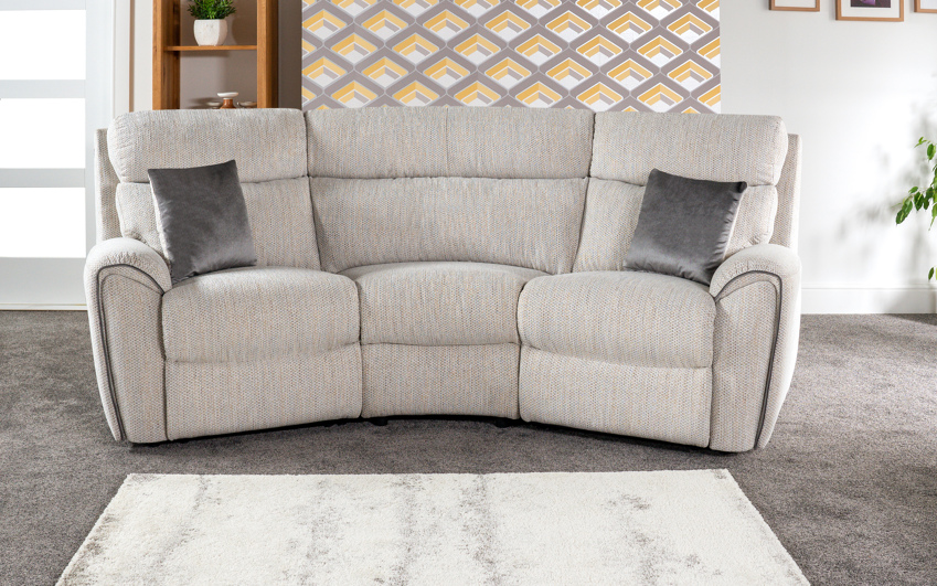 La-Z-Boy Pittsburgh 3 Seater Compact Curved Static Sofa