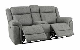 Endurance Myst 2 Seater Manual Recliner Sofa With Console, , small