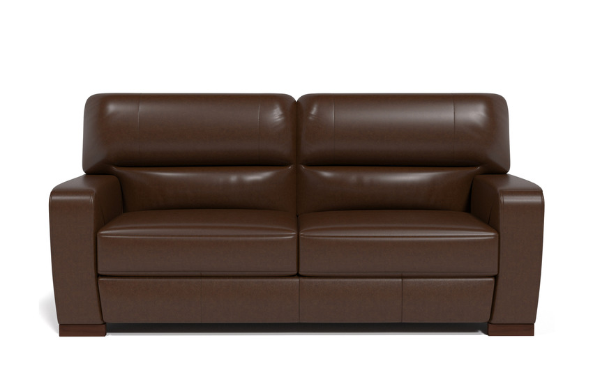 Sisi Italia Lucca 3 Seater Sofa, New Montefeltro 2941 Brown/Self Stitch, large