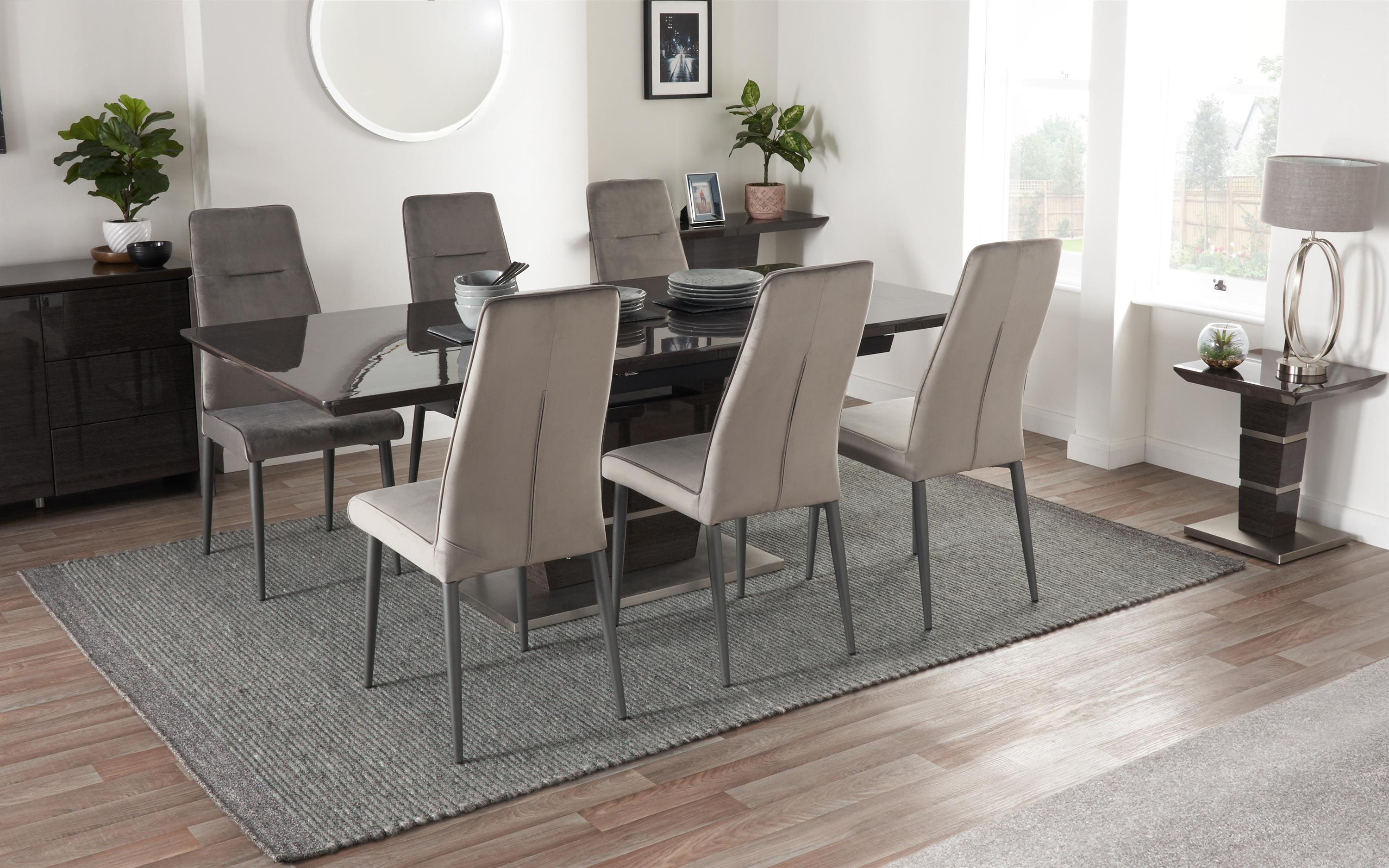 Sisi Italia San Pietro 1.6m Extending Dining Table & 6 Chairs