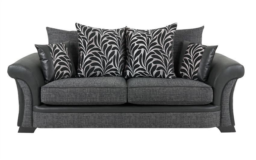 Hallie 3 Seater Sofa Scatter Back, , large