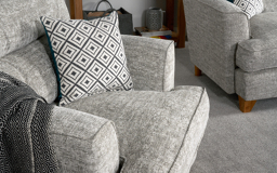 Freya Twister Footstool, Sydney Silver All Over, small