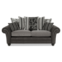 San Jose 3 Seater Sofa Scatter Back, Alas Char/Ari Blk/Adr Grey/Tre Grey, small