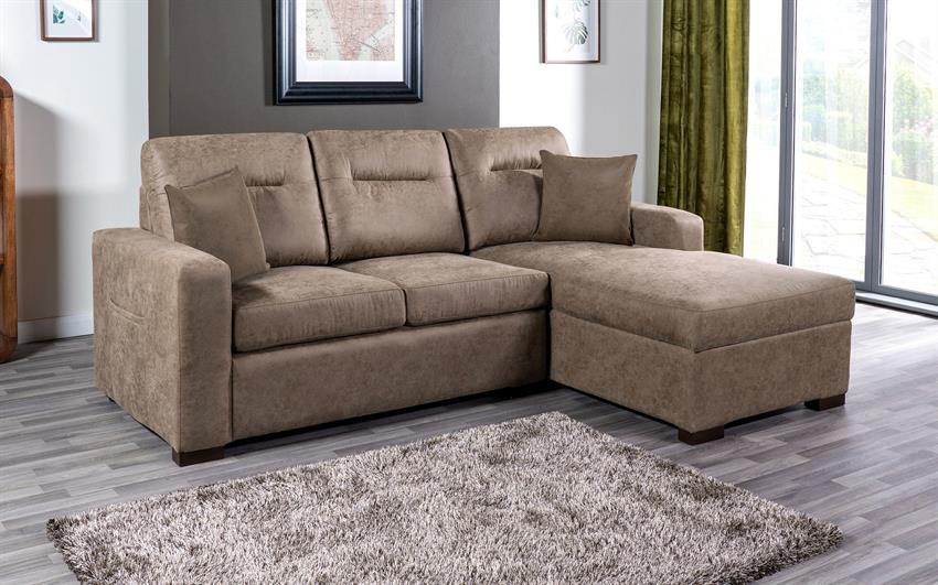 Endurance Snoozer RHF Storage Bed Chaise Sofa