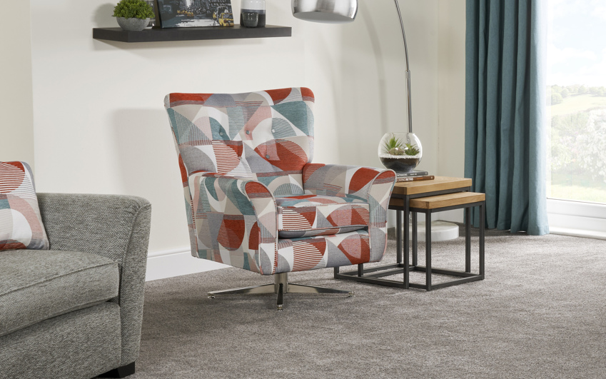 Inspire Rockcliffe Swivel Chair