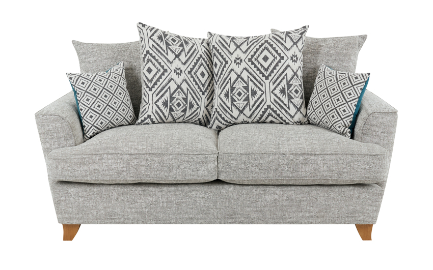 Freya 2 Seater Sofa Scatter Back, Pearson Collection Silver/Option 1, large