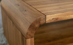 Oak Lounge Coffee Table with Shelf, , small