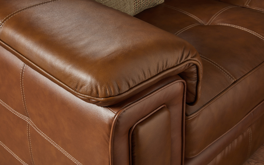 Fergie Standard Footstool, Ch Tan 166298/Ctrst Stitch Beige, large