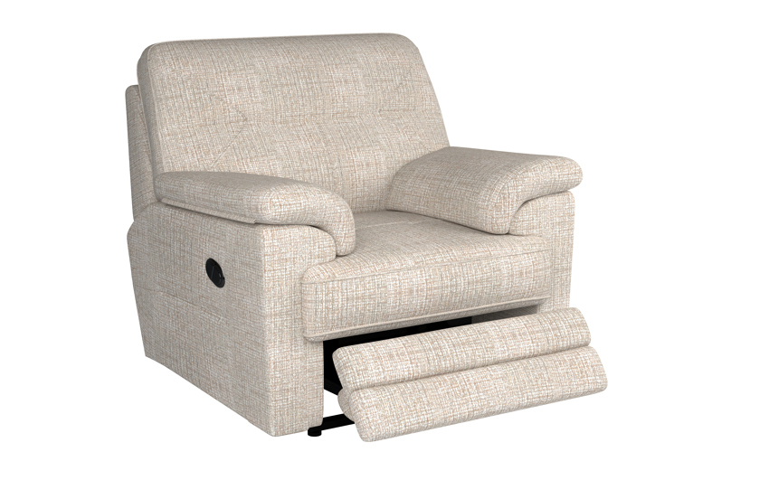 G Plan Stanton Power Recliner Chair, W002 Loom Shale, large