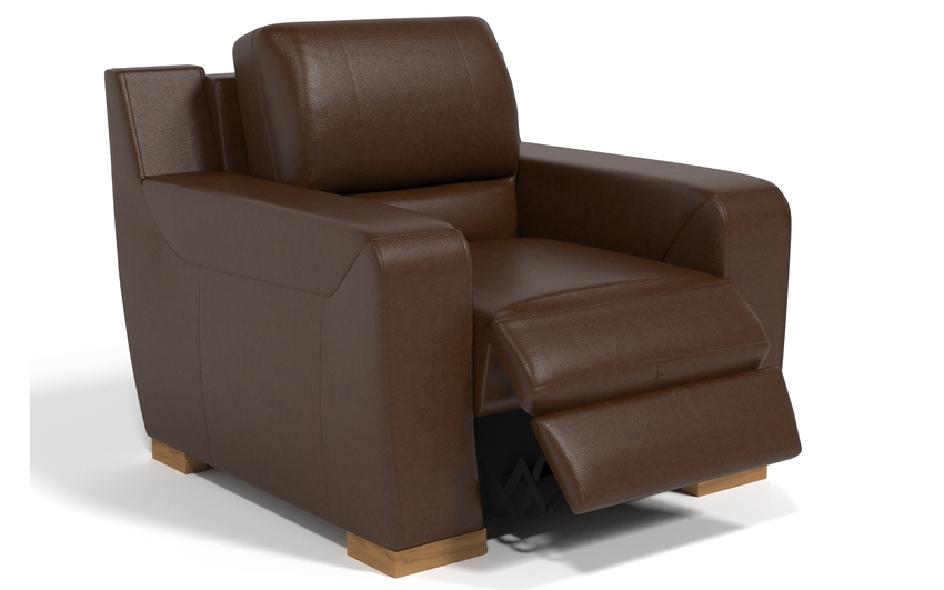 Sisi Italia Lucca Power Recliner Chair, New Montefeltro 2941 Brown/Self Stitch, large