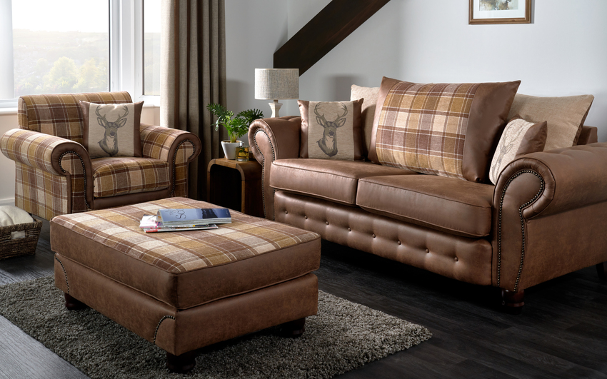 County 2 Seater Sofa Scatter Back, , large