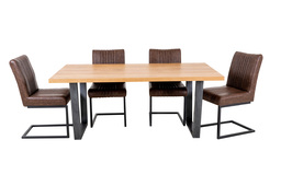 Archie Dining Table and 4 Chairs, , small