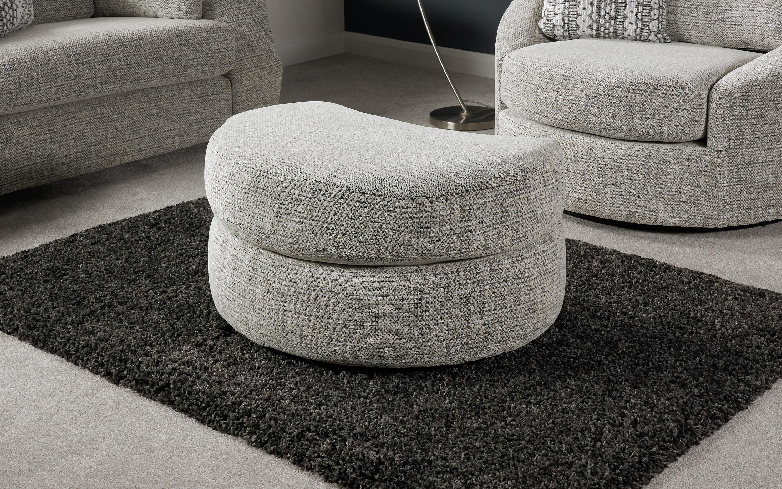 Whisper Half Moon Footstool