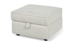 Inspire Chiltern Storage Footstool, 5602 Stone Diagonal Plain Chenille, small