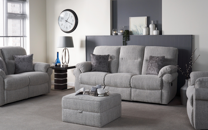 Kelbrook 2 Seater Power Recliner Sofa, Pendle Soft Stone, large