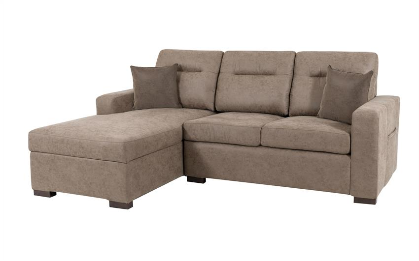 Endurance Snoozer LHF Storage Bed Chaise Sofa