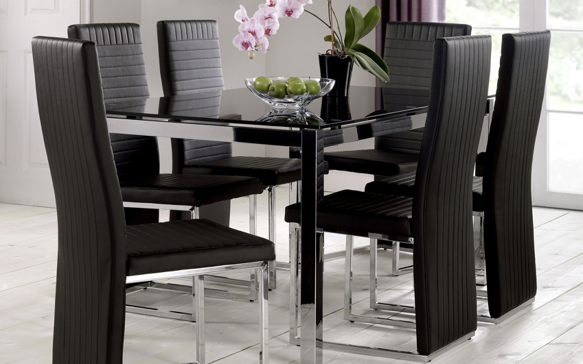 Chesham Glass Dining Table & 6 Chairs