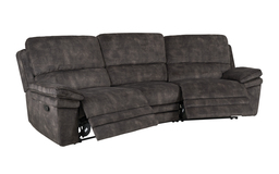 Endurance Atlas 4 Seater Curved Manual Recliner Sofa, , small