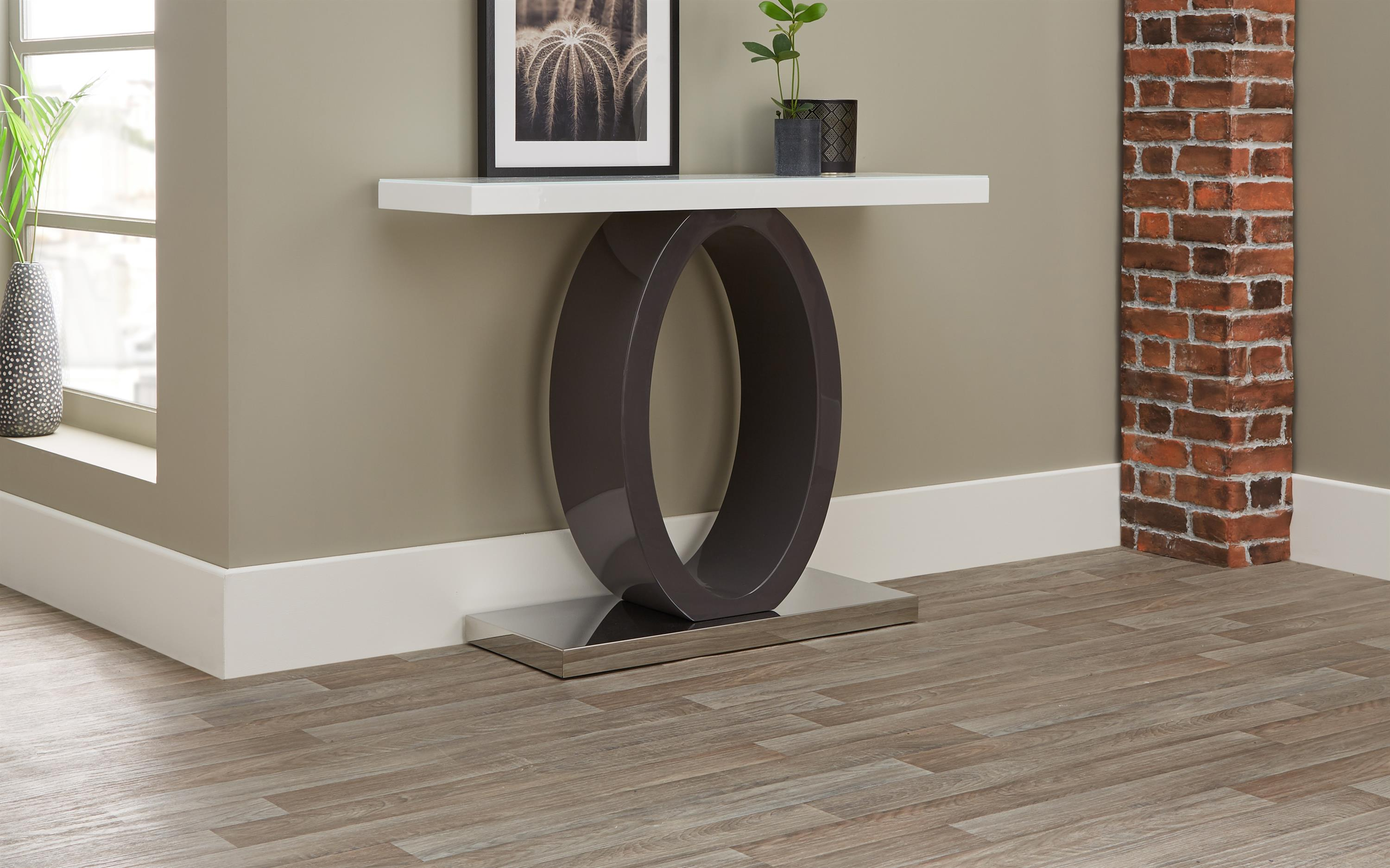 Tokyo White & Grey Console Table