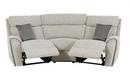 La-Z-Boy Pittsburgh 3 Seater Compact Curved Power Recliner Sofa, , small