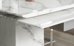 Sophie Extending Marble Dining Table, , small