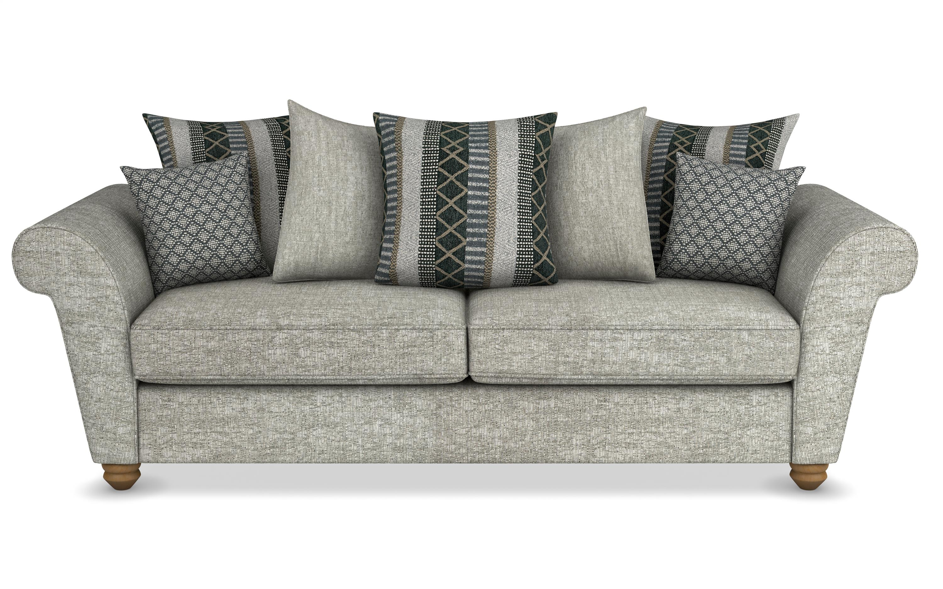 Aurora 3 Seater Sofa Scatter Back