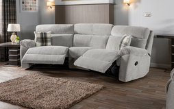 Cloud 4 Seater Curved Manual Recliner Sofa, , small