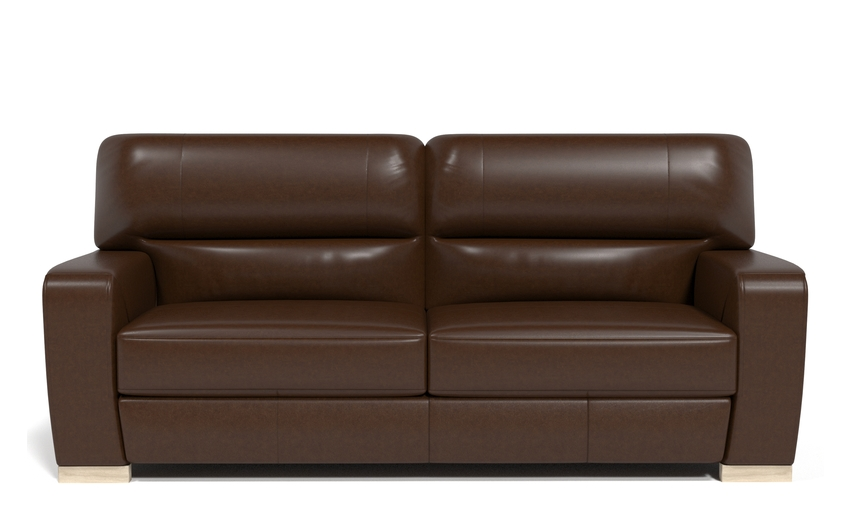 Sisi Italia Lucca 4 Seater Sofa, New Montefeltro 2941 Brown/Self Stitch, large