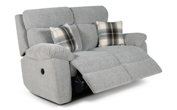 Cloud 2 Seater Power Recliner Sofa, Cloud Collection Silver, small