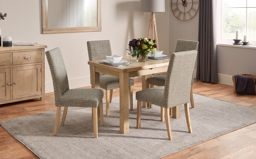 Romeo Pair of Cross Back Dining Chairs, , small