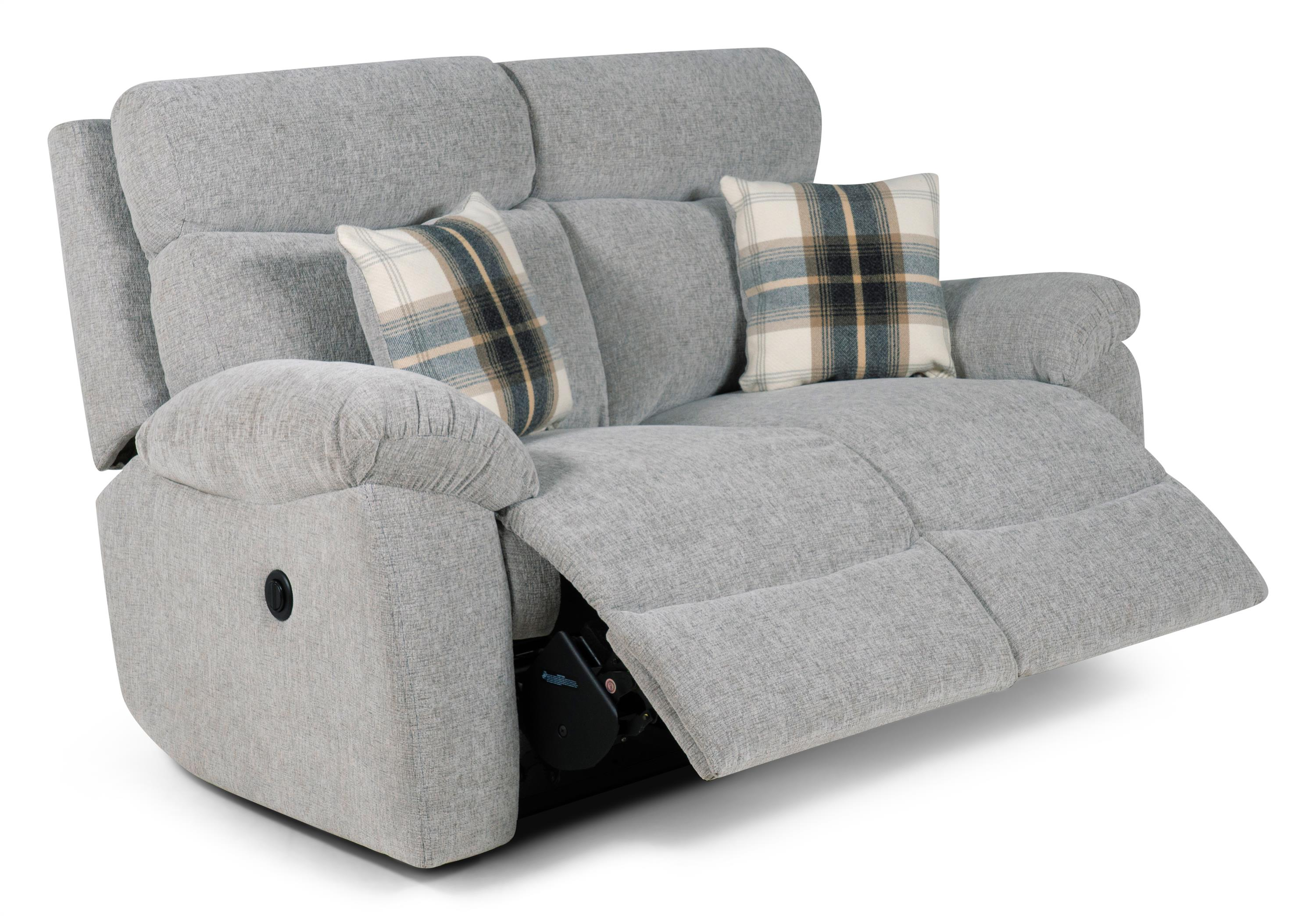 Cloud 2 Seater Power Recliner Sofa, Cloud Collection Silver, large