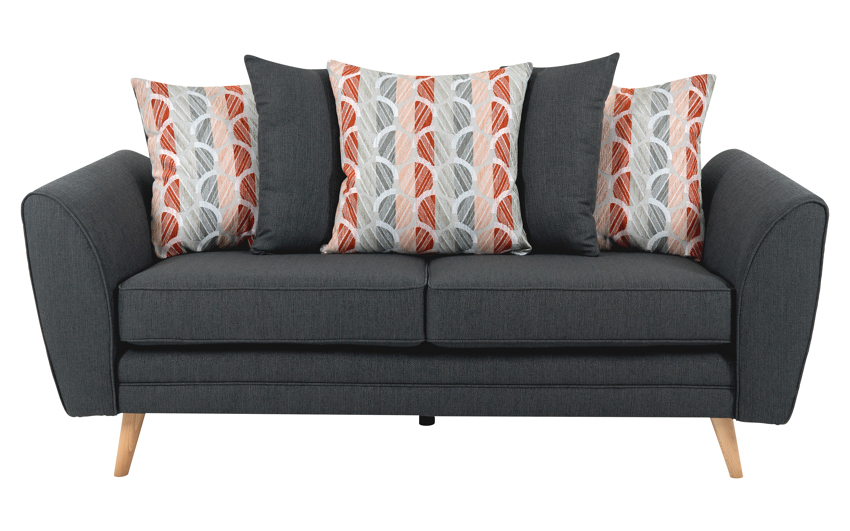 Troy 3 Seater Sofa Scatter Back